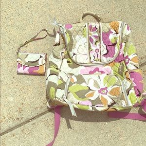 Vera Bradley set with a backpack and a wallet